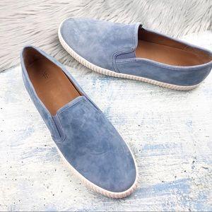 FRYE Camille Blue Suede Slip On Sneaker Size 11